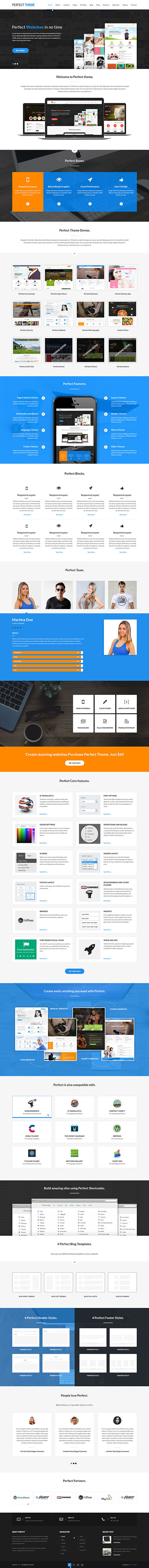 commercial wordPress theme1 - Perfect