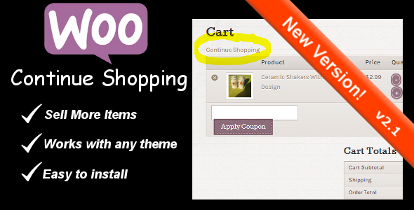 continue - WooCommerce Continue Shopping Link