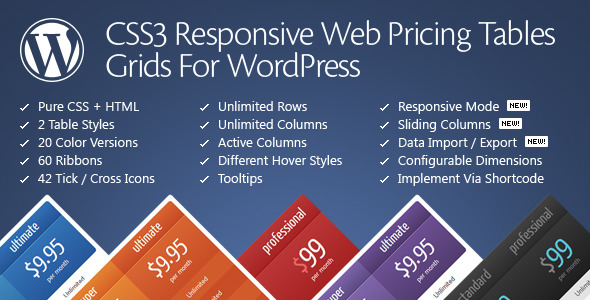 css3 - CSS3 Responsive WordPress Compare Pricing Tables