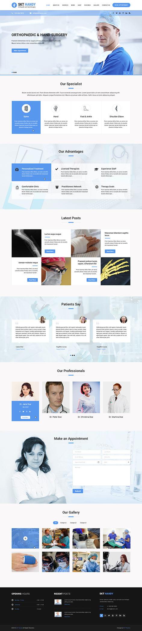 doctor wordpress theme - Handy