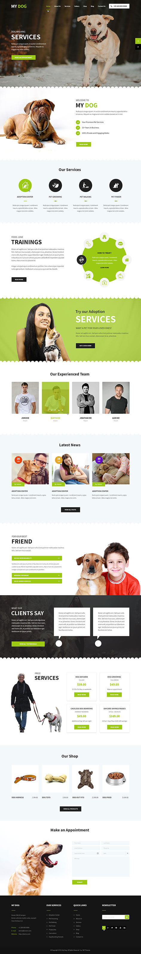 dog wordpress theme1 - My Dog