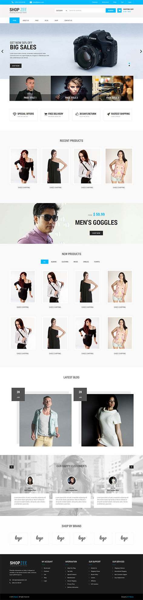ecommerce wordpress theme - Shopzee