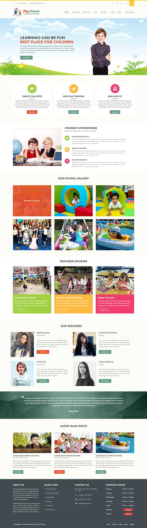 education wordpress theme1 - Play School