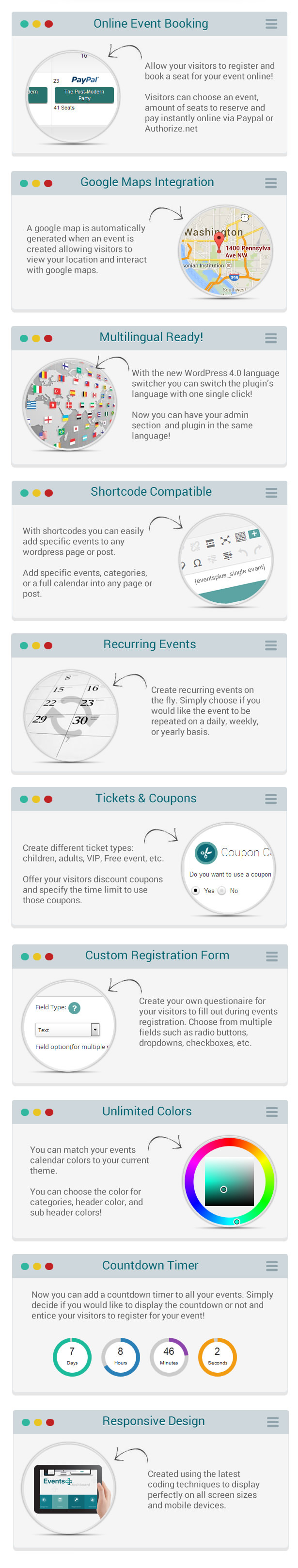 events16 - Events Calendar Registration & Booking