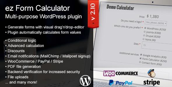 ez - ez Form Calculator - WordPress plugin