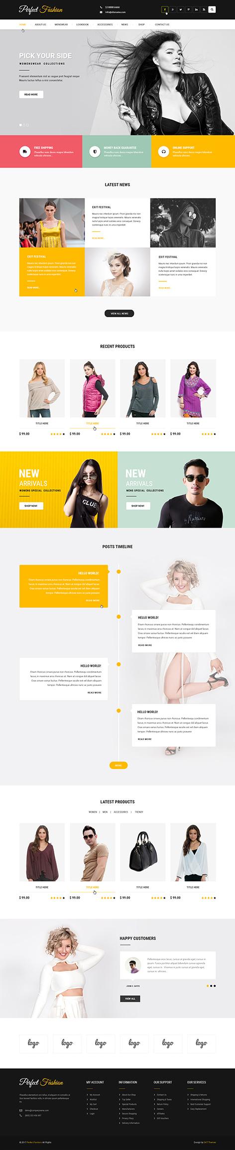 fashion wordpress theme1 - Fashion Trends