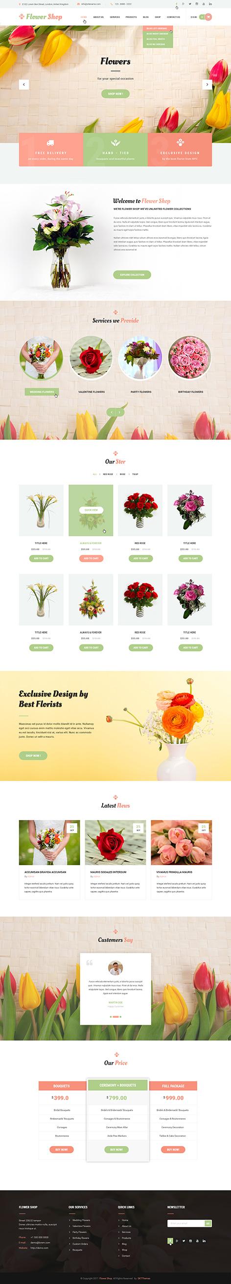 flower shop wordpress theme1 - Flower Shop
