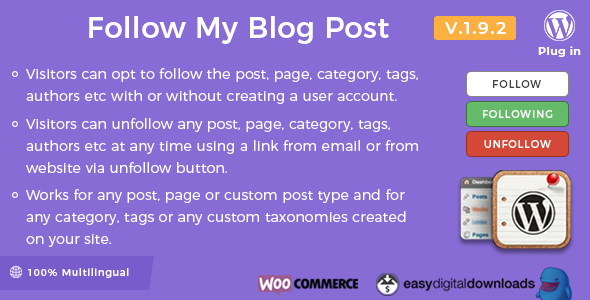 follow - Follow My Blog Post - WordPress Plugin