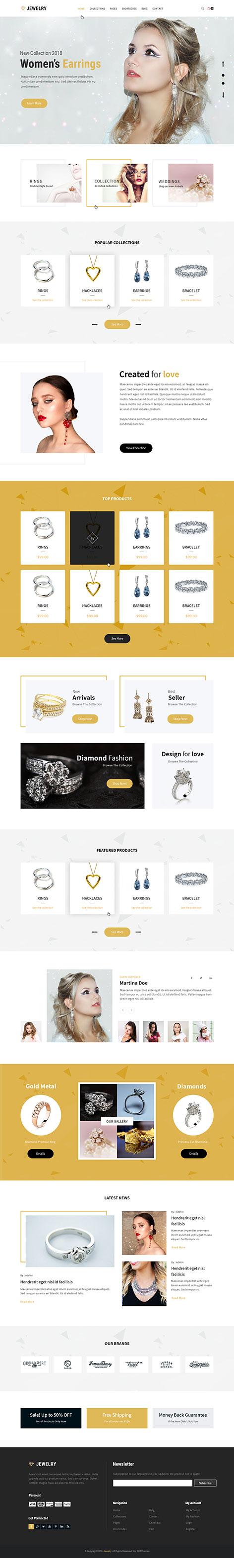jewellery shop wordpress theme - Jewellery