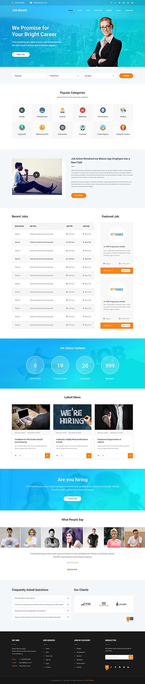 job portal wordpress theme new - Job Portal
