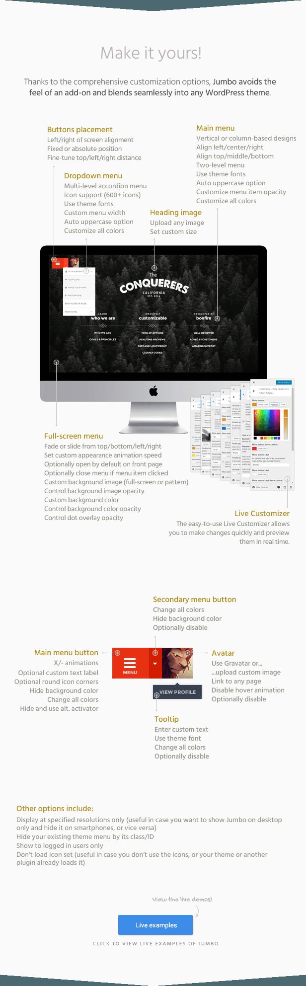 jumbo3 - Jumbo: A 3-in-1 full-screen menu for WordPress