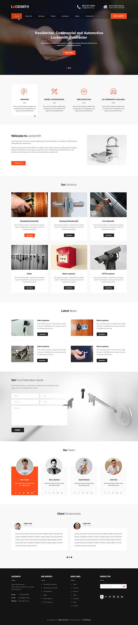 locksmith wordpress theme1 2 - Locksmith