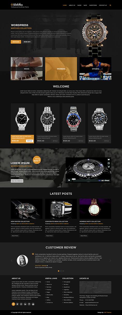 luxury wordpress theme1 1 - Luxury Watch
