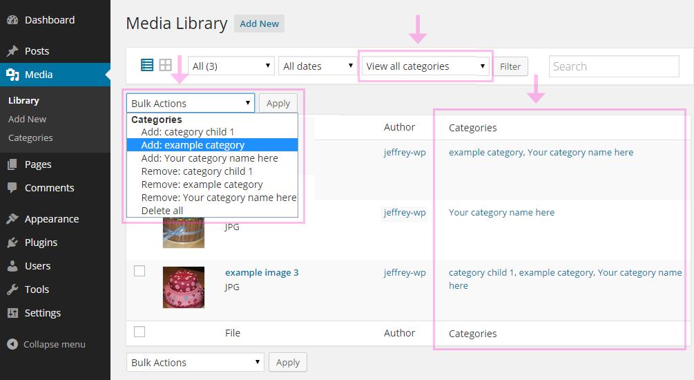 media2 - Media Library Categories Premium