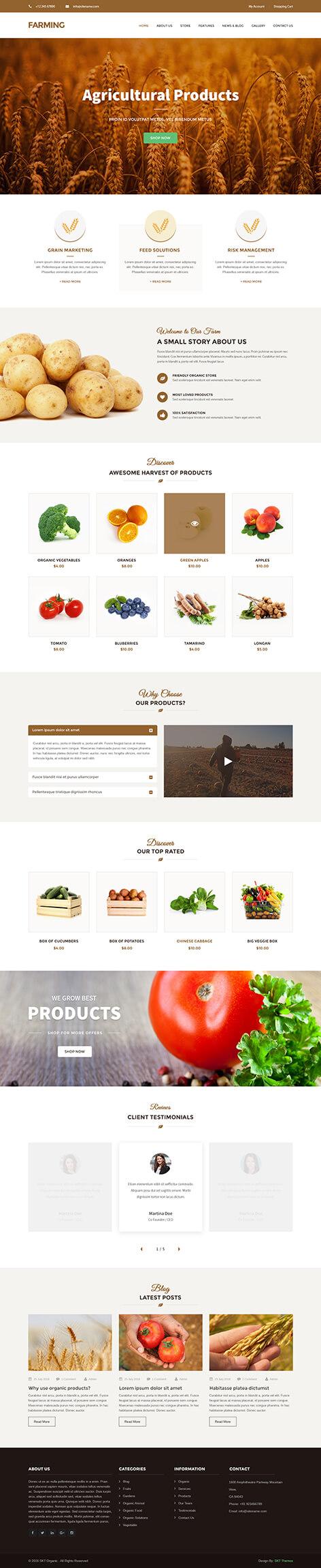 organic food wordpress theme1 - Farming