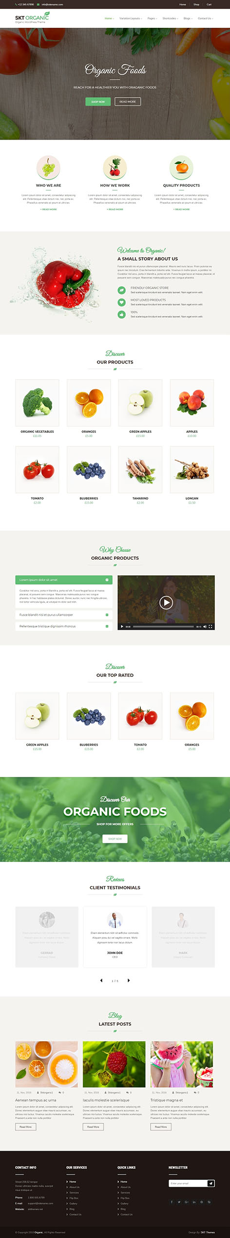 organic wordpress theme - Organic