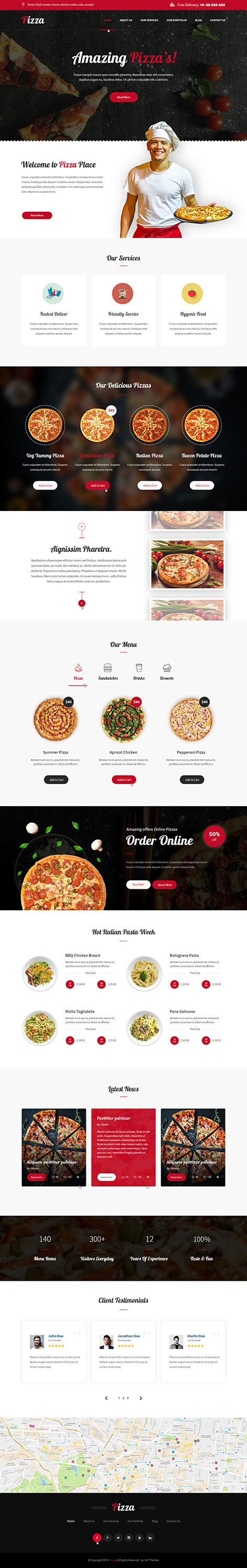 pizza ordering WordPress theme1 - Pizza