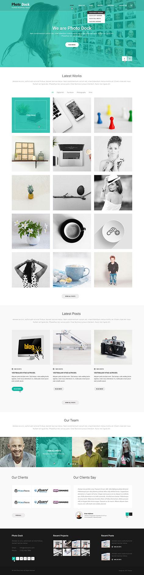 portfolio wordpress theme1 - Photodock
