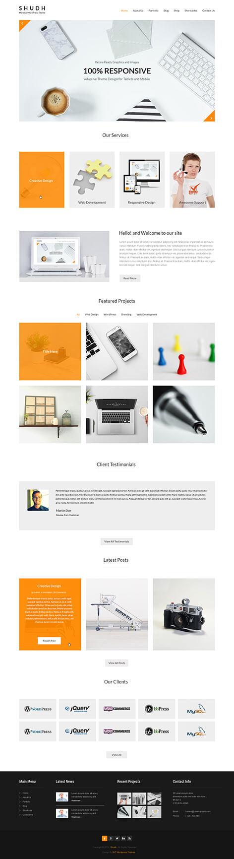 shudh minimal wordpress theme1 - Shudh