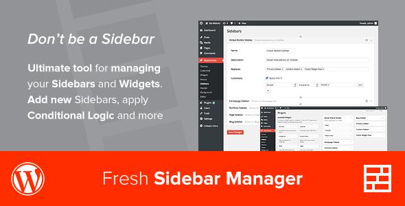 sidebar - Custom Sidebar Manager