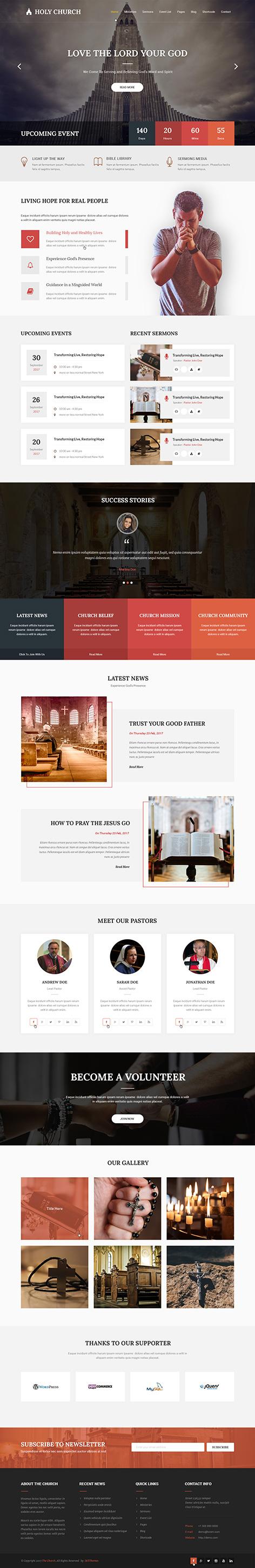 spiritual wordpress theme1 - Church
