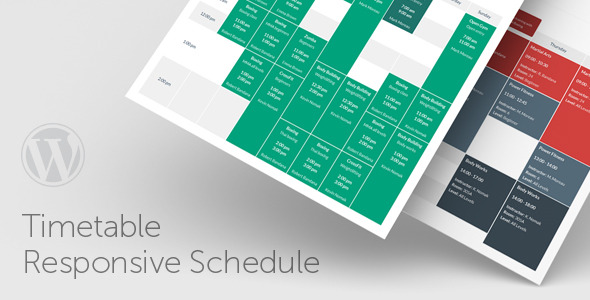 timetable - Timetable Responsive Schedule For WordPress