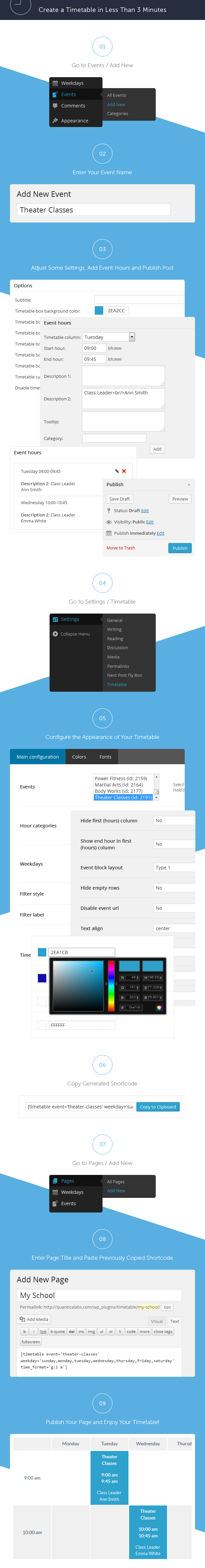 timetable12 - Timetable Responsive Schedule For WordPress