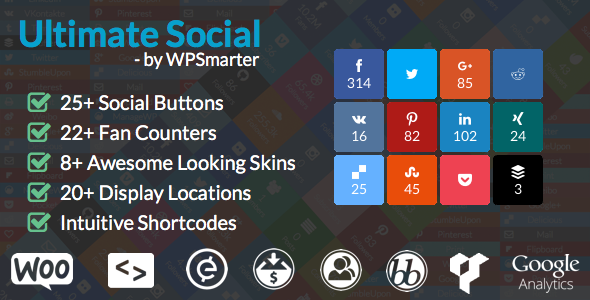 ultimate - Ultimate Social - Easy Social Share Buttons and Fan Counters for WordPress