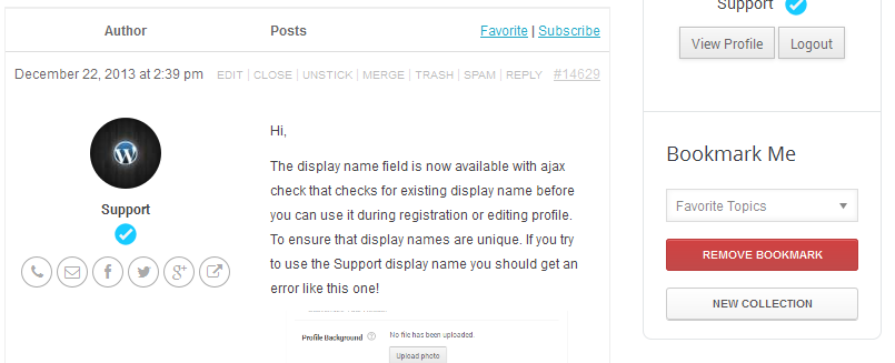 user3 - WordPress User Bookmarks (Standalone version)