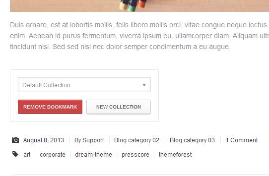 user5 - WordPress User Bookmarks (Standalone version)