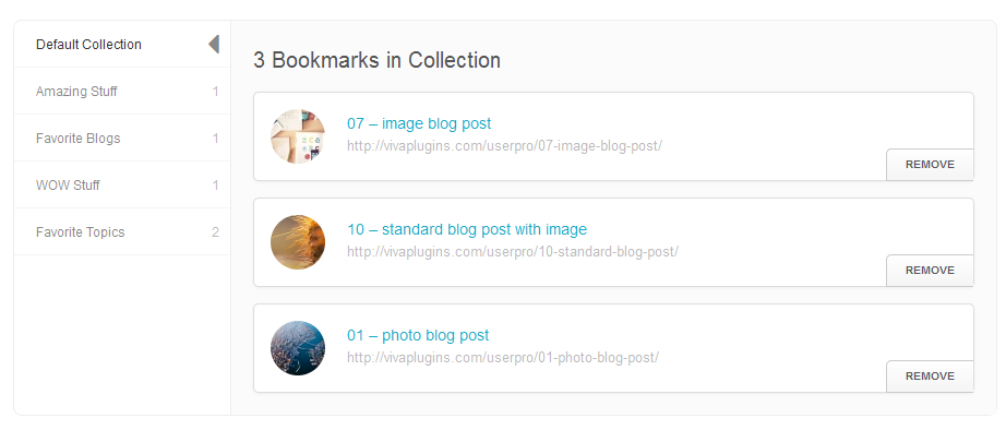 user6 - WordPress User Bookmarks (Standalone version)