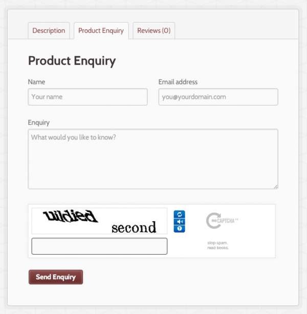 1 5 - Product Enquiry Form