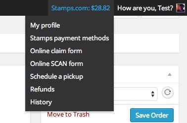 Отслеживайте свою учетную запись Stamps.com внутри администратора WooCommerce.