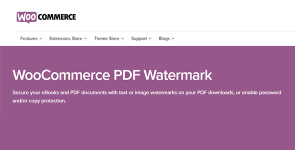 1 - WooCommerce PDF Watermark