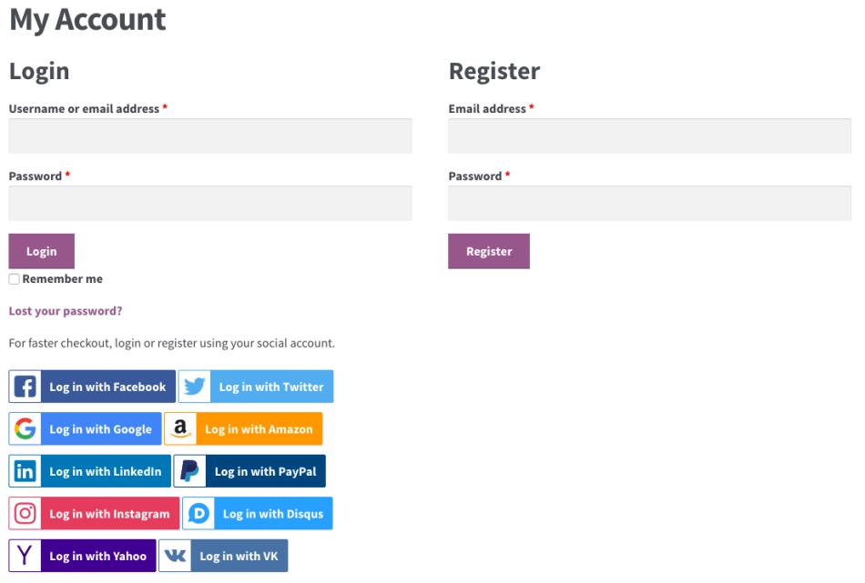2 woocommerce social login account guest - WooCommerce Social Login
