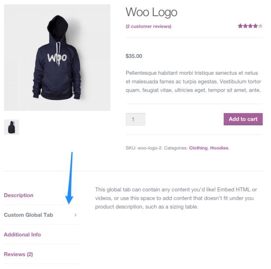 Пример пользовательской вкладки