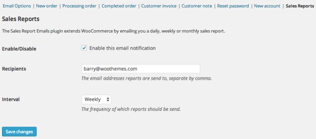 Настройте электронные письма с отчетами о продажах.