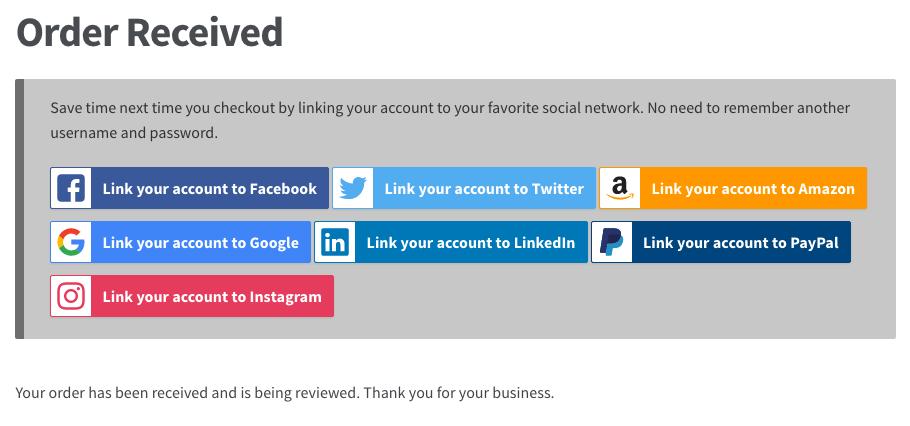 3 woocommerce social login order received - WooCommerce Social Login