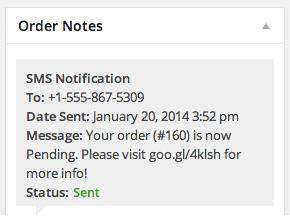 Просмотр каждого SMS-сообщения, отправленного клиенту