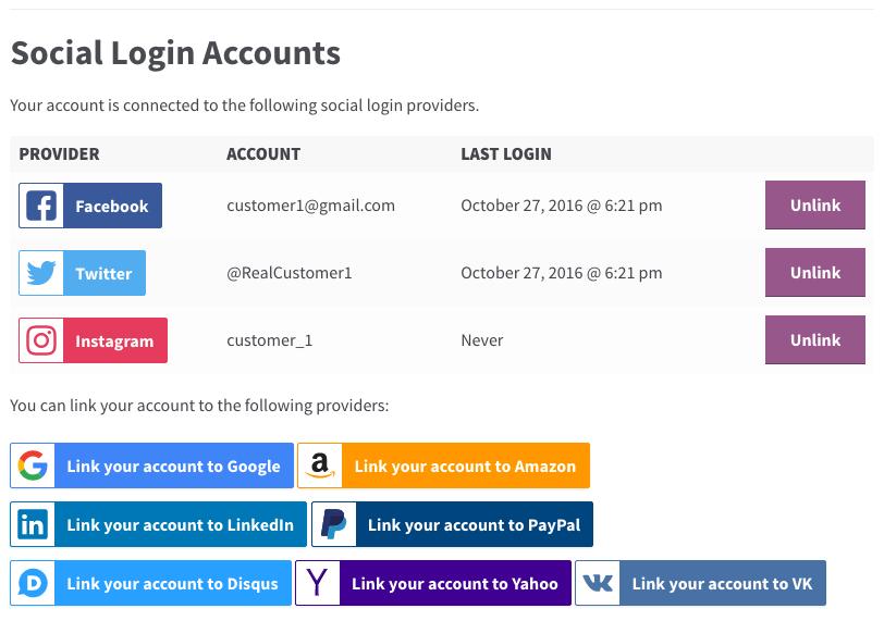 7 woocommerce social login account customer - WooCommerce Social Login