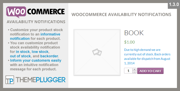 Availability Notifications - WooCommerce Availability Notifications