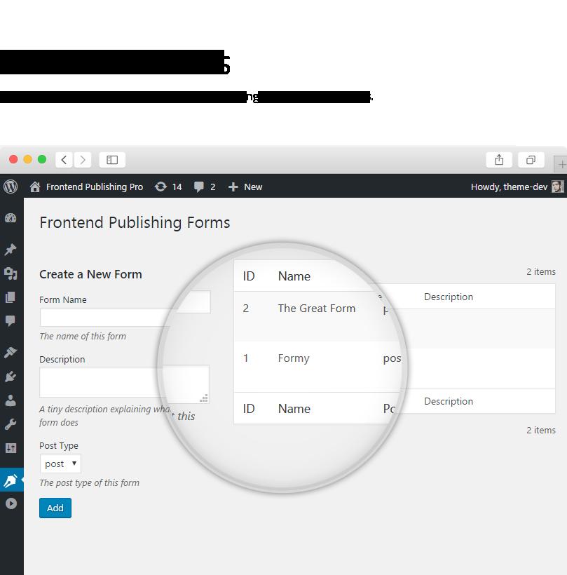 Frontend Publishing Pro5 - Frontend Publishing Pro