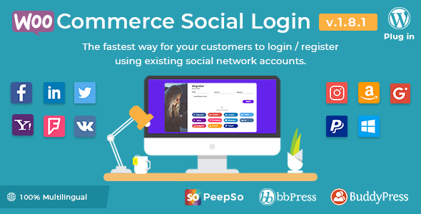Social Login - WooCommerce Social Login - WordPress Plugin