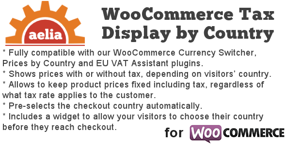 Tax Display by Country for WooCommerce - Tax Display by Country for WooCommerce
