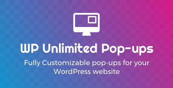 WP Unlimited Pop ups - WP Unlimited Pop-ups