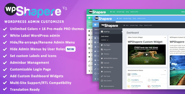 Wordpress Admin Theme WPShapere - Wordpress Admin Theme - WPShapere