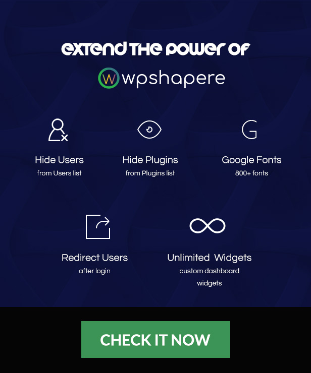 Wordpress Admin Theme WPShapere4 - Wordpress Admin Theme - WPShapere