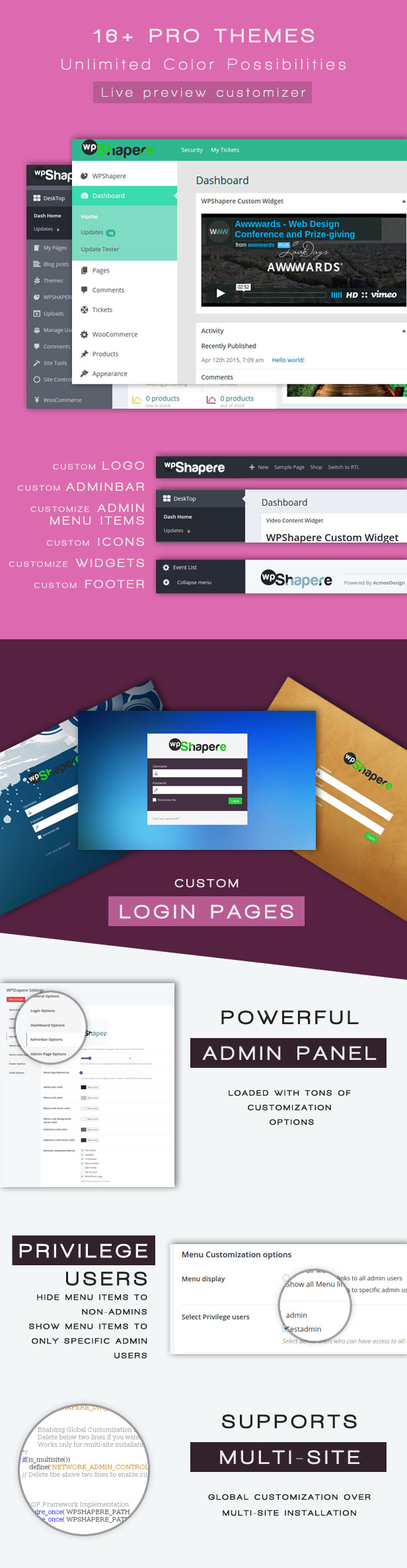 Wordpress Admin Theme WPShapere5 - Wordpress Admin Theme - WPShapere