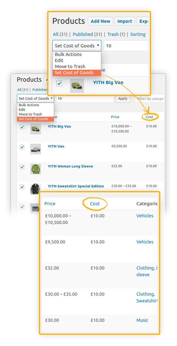 YITH Cost of Goods for WooCommerce2 - YITH Cost of Goods for WooCommerce
