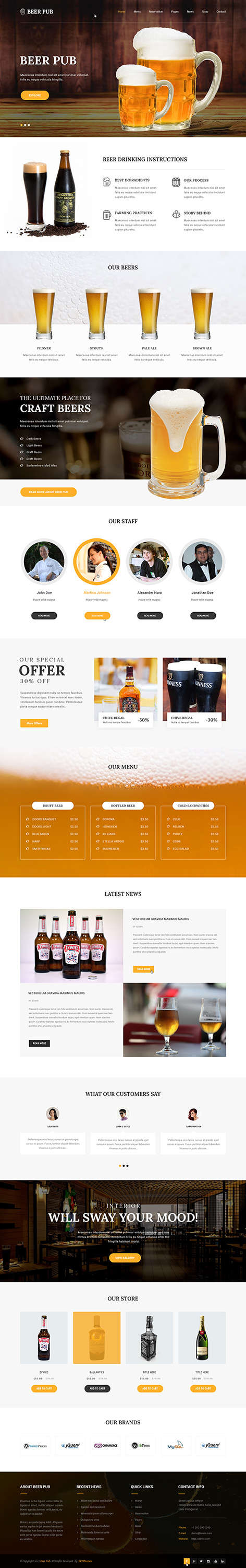 beer pub wrodpress theme1 - Beer and Pub
